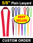 "5/8"" Best Seller Plain Lanyards LY-404/Per-Piece"
