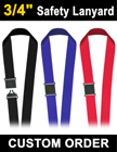 "3/4"" Corporate Safety ID Lanyards with Breakaway Protection LY-507-R/Per-Piece"