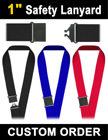 "1"" Large Size Safety Sports Lanyards LY-508-R/Per-Piece"