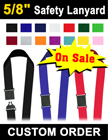 "5/8"" Low Cost Safety ID Card Holder Lanyards LY-503-R/Per-Piece"