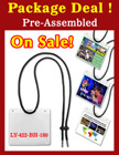 LY-422-BH-180-PACKAGE-DEAL Pre-Assemble, Adjustable and Flexible Name Badge Holder Lanyards LY-422-BH-180-PACKAGE/Per-Set
