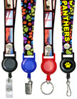 "Retractable Identification Holder Lanyards: With 3/4"" Art Printed Neck Straps LY-P-SC-RT-21/Per-Piece"