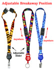 "Retractable Safety Badge Lanyards: with 5/8"" Art Printed Neck Straps LY-P-503HD-SL-RT-21/Per-Piece"