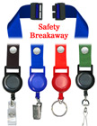 "Safety Retractable Badge Holder Lanyards: with 3/4"" Plain Color Snap Fastener Neck Lanyard Straps LY-SC-N-RT-21/Per-Piece"