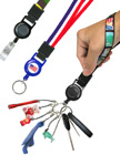 "Printed Retractable Wrist Lanyards: With 5/8"" Art Printed Wrist Straps LY-P-UL-WS-RT-21/Per-Piece"