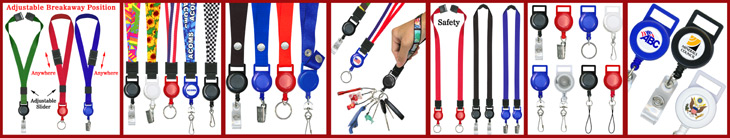 Retractable Lanyards For Neck and Wrist Wear  - Adjustable, Safety Breakaway & Double-Ended Retractable Series