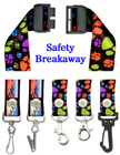 "Security Lanyards:  3/4"" Pattern Printed Security Neck Straps LY-P-SC-N/Per-Piece"