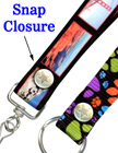 "Snap Fastener Lanyards: 3/4"" Pattern Printed Neck Straps LY-P-SC/Per-Piece"