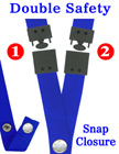 "Two Safety Lanyards: 3/4"" Breakaway Neck Straps: Snap Closure Identification Holders"