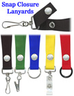 "Snap Lanyards: 3/4"" Neck Wear Straps: For Badge Holders"