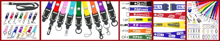 Snap Fastener Lanyards and Neck Straps