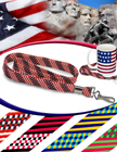 "3/8"" USA Flag Stripe Lanyard With Swivel Hook LY-S5-38-HK/Per-Piece"
