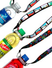 Sports Lanyards:  Bottled Water or Drink Neck Straps: Adjustable Length