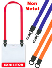 All Plastic Double-Ended Neck Lanyards For Name Badge Holders LY-UL-DA/Per-Piece