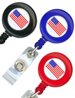 Round Badge Reels With Badge Straps