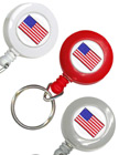 USA Flag Retractable Keychains: Patriotic Key Chains RT-03-USA-FLAG/Per-Piece