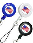 USA Flag Retractable Universal Cell Phone Strings RT-06-USA-FLAG/Per-Piece