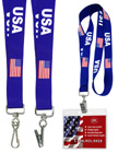 USA Flag Lanyards: Patriotic Lanyard Series LY-405HD-USA-FLAG/Per-Piece