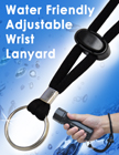 Stainless Steel Split Key Ring Wrist Lanyard With Soft Touch Woven Round Cord LY-606-O/Per-Piece