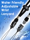 Water Friendly Woven Wrist Lanyards: With Stainless Steel Parts LY-606-CP/Per-Piece