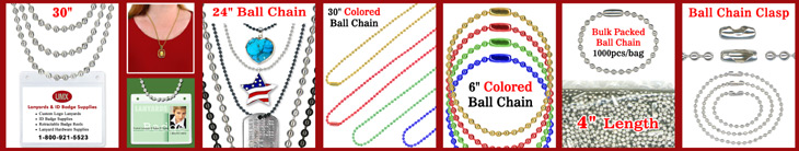 Ball Chains - Bead Chains - Necklaces
