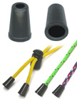 "Round Cone Plastic Cord Ends: Cord Zipper Pulls with 1/8""(D, Top Hole) x 1/4""(D, Bottom Hole)"