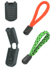 "Long Profile Rectangle Plastic Zipper Pulls: Cord End Closure with 3/16""(W) x 1/16""(H) Hole P-139C/Per-Piece"