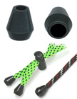 "Round Cone Plastic Cord Closures: Cord Zipper Pulls with 3/16""(D, Top Hole) x 5/16""(D, Bottom Hole)"