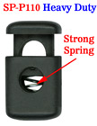 "Heavy-Duty Cord Locks: Strong Steel Metal Spring Fasteners, One Big String Hole - 6mm(D)=1/4""(D) SP-P110/Per-100-Pcs"
