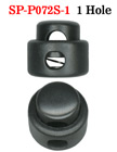 Cord Lock: Small Size, Low Profile Cylinder Shape - One Hole SP-P072S-1/Per-100-Pcs