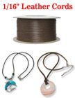 "Sample Order: Thin Leather Round Cords: Custom Length By The Foot - 1/16""(D) LC-020/Per-Foot"