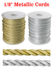 "Metallic Color Nylon Cords: By The Spool (Roll) / 150 ft - 1/8"" (D)"