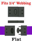 "Safety Plastic Buckles - Big Size Safety Breakaway Buckles - Fit 3/4"" Lanyard Straps"