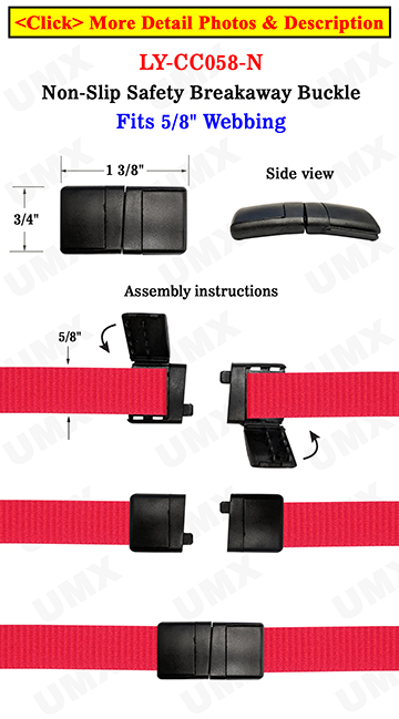 "5/8"" Non-Slip Safety Breakaway Buckle"