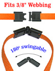 "Safety Buckles: Small Swingable Breakaway Buckles - 3/8"" LY-CC403HD-SW/Per-Piece"