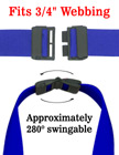 "Breakaway Plastic Buckles: Swingable Big Safety Buckles: Fit 3/4"" Lanyards"