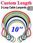 "10"" Corrosion Resistant Cable Lanyards: Rust Resistant LY-2LE-W02P-10/Per-Piece"