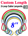 "8"" Mechanic's Cable Lanyards For Parts, Assemblies and Tools LY-2LE-W02P-08/Per-Piece"