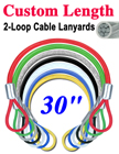 "30"" Steel Wire Cable Lanyards: Wholesale Bulk Packed"