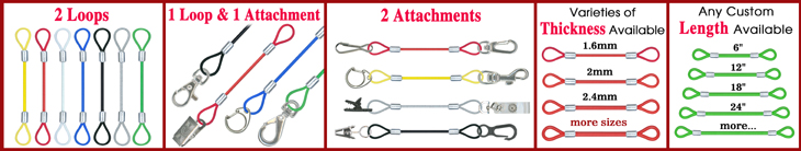 Stainless Steel Wire Lanyards: Heavy Duty Cable Leash Lanyard Supplies