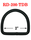 "2"" Extra Large Black D-Ring - Heavy Duty Ring"