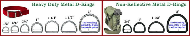 Heavy Duty Steel Metal D-Rings: Bulk Packed Wholesaler of Bag Straps, Belts, Dog Leashes & Pet Collars Dee Ring Supplies. We have a variety of small size to extral large or big size of d rings available.