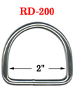 "2"" Large Size Steel Metal Drings : Heavy Duty  Big Dring Fasteners RD-200/Per-Piece"