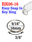 "9/16"", 16mm Easy Attach Key Rings: For Small and Light Weight Attachments"