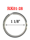 "1 1/8"",  28 mm Heavy Duty Keyrings: Factory Direct Economic Pricing"