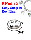 "7/8"", 21mm Easy Split Key Rings: Designed To Add Attachment Easily"