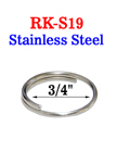 "3/4"" Stainless Medium Size Keyring: Great For Wet Environment"