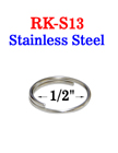 "1/2"" Stainless Small Key Ring: Great For Harsh Environment"
