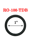 "1"" Non-Reflective Black O-Ring: Dull Black Colored"