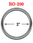 "2"" Large Size Heavy Duty Metal O Ring : Great For Utility Belt & Heavy Weight Strap Making"